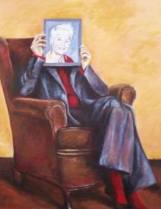 Zelfportret in stoel